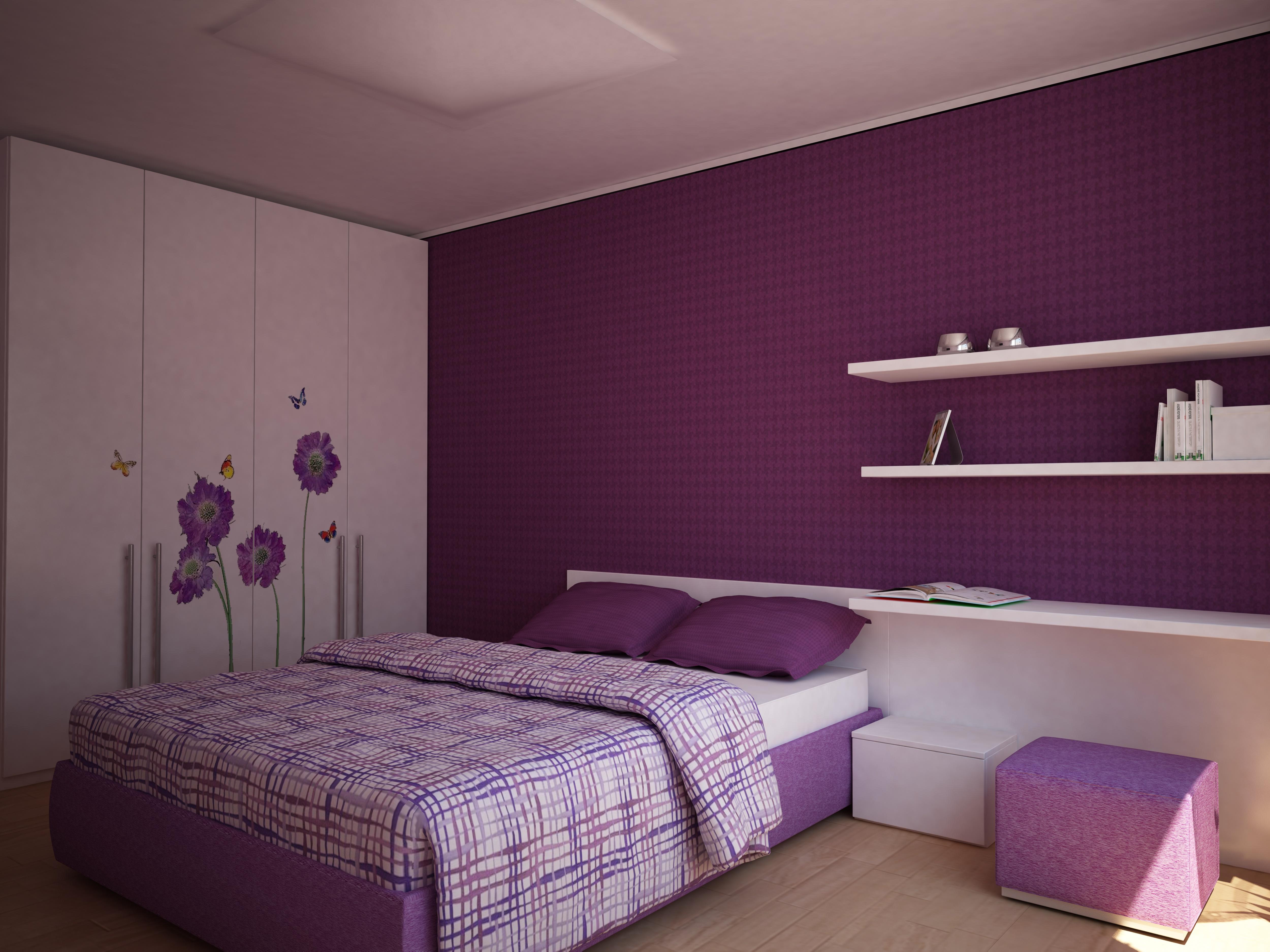 Sypialnia fioletowa