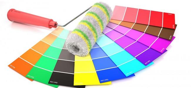 Paleta kolorów farb akrylowych