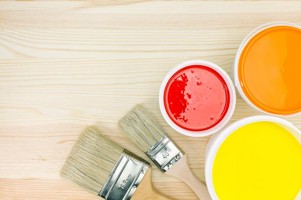 Farby akrylowe w trzech kolorach